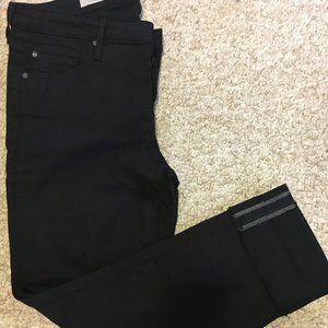 AG THE STEVIE CUFF Black Jeans